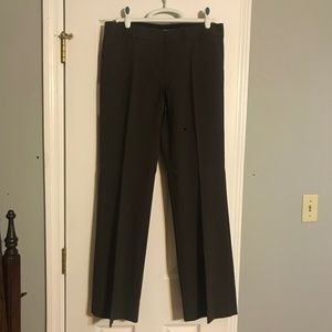 Express Brown The Editor Flared Dress Pants 8